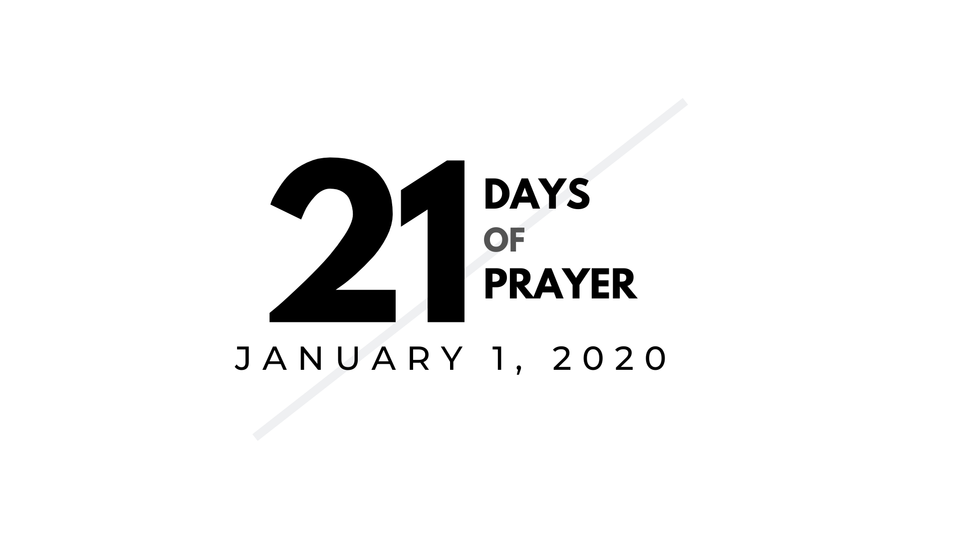 Springfield Assembly 21 Days of Prayer New Year Akron 2020