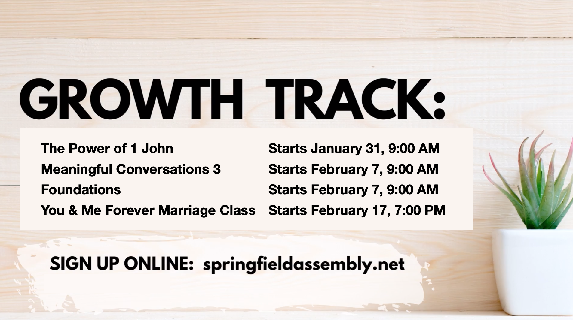 Grow Track 2 Classes to learn about life